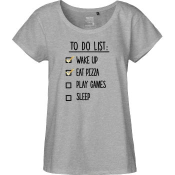 bjin94 To Do List T-Shirt Fairtrade Loose Fit Girlie - heather grey