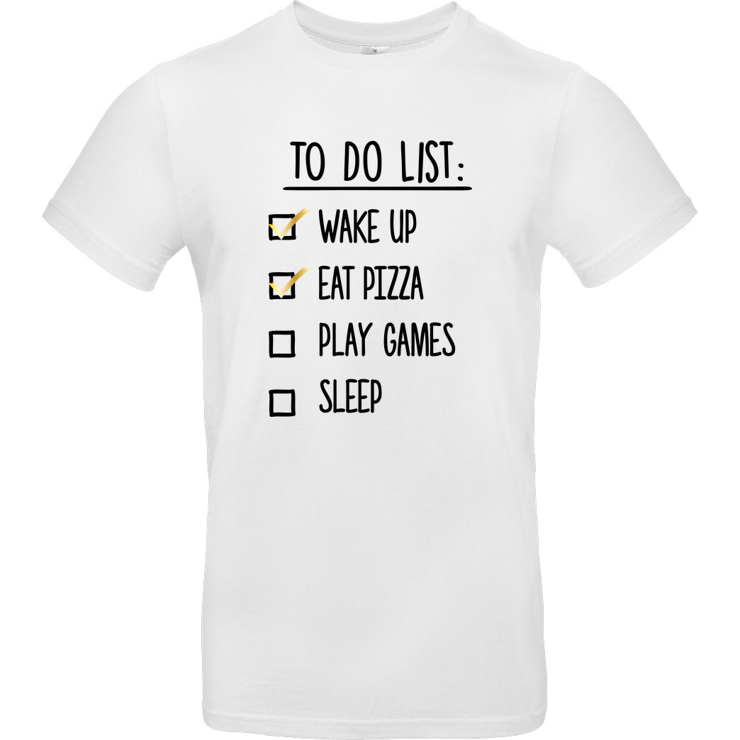 bjin94 To Do List T-Shirt B&C EXACT 190 - Weiß