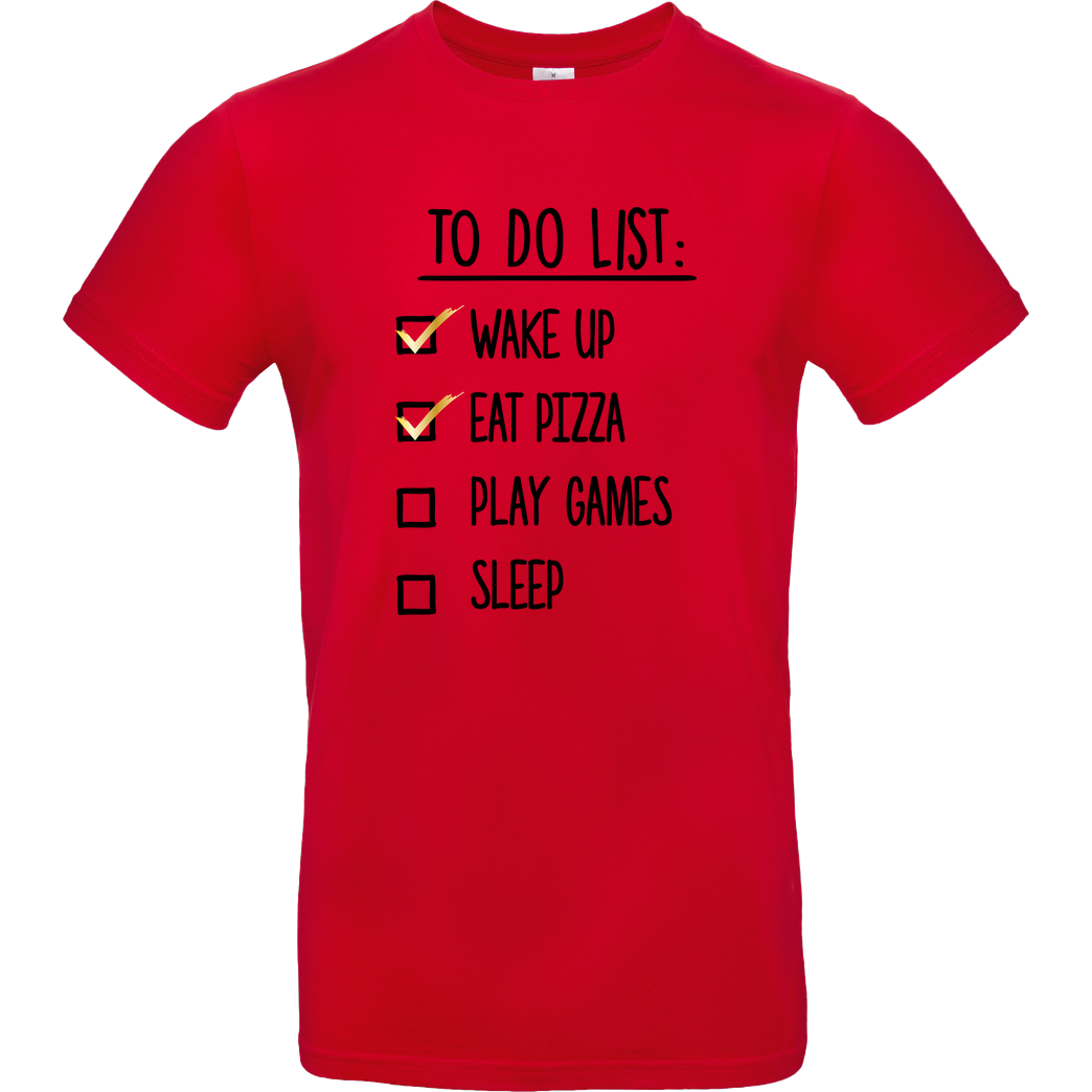 bjin94 To Do List T-Shirt B&C EXACT 190 - Red