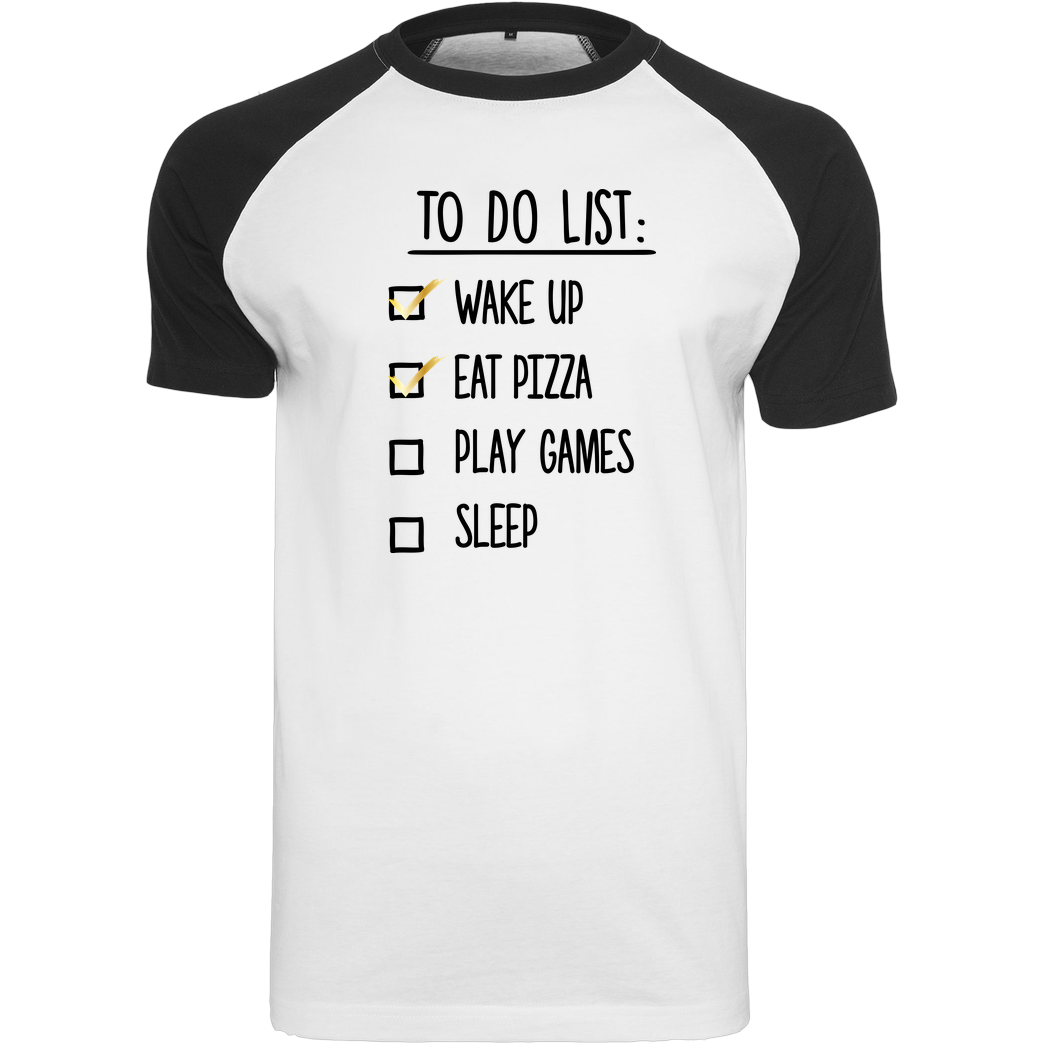 bjin94 To Do List T-Shirt Raglan-Shirt weiß