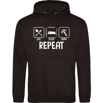 Eat Sleep Mine Repeat JH Hoodie - Schwarz