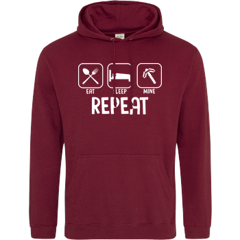 Eat Sleep Mine Repeat JH Hoodie - Bordeaux