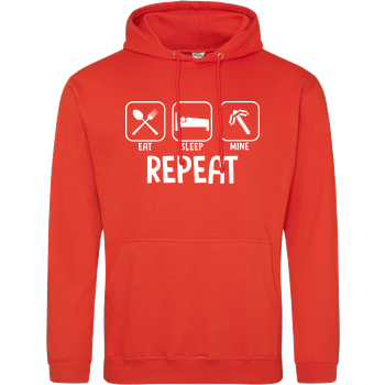 Eat Sleep Mine Repeat JH Hoodie - Orange