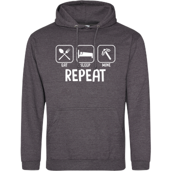 Eat Sleep Mine Repeat JH Hoodie - Dark heather grey