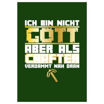 Gamer Gott - MC Edition Art Print green