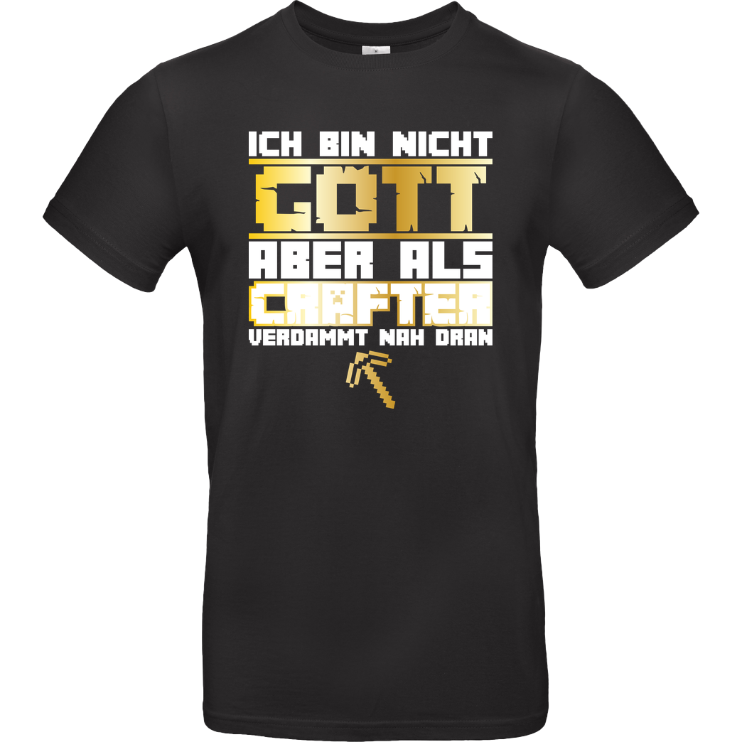 bjin94 Gamer Gott - MC Edition T-Shirt B&C EXACT 190 - Schwarz