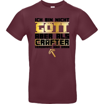 bjin94 Gamer Gott - MC Edition T-Shirt B&C EXACT 190 - Burgundy
