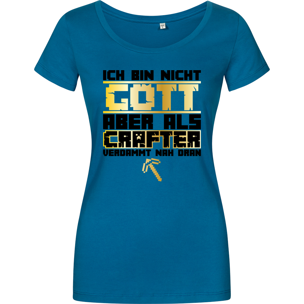 bjin94 Gamer Gott - MC Edition T-Shirt Damenshirt petrol