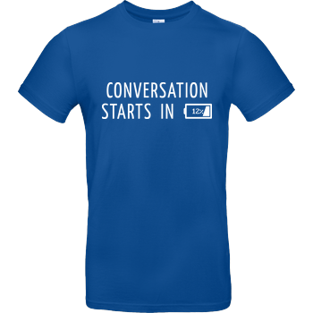Conversation Starts in 12% B&C EXACT 190 - Royal Blue