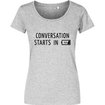 None Conversation Starts in 12% T-Shirt Damenshirt heather grey