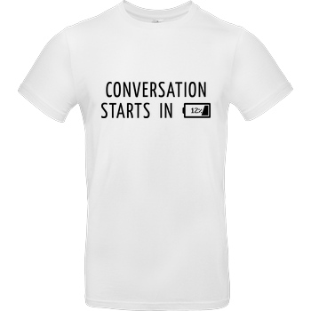 None Conversation Starts in 12% T-Shirt B&C EXACT 190 -  White
