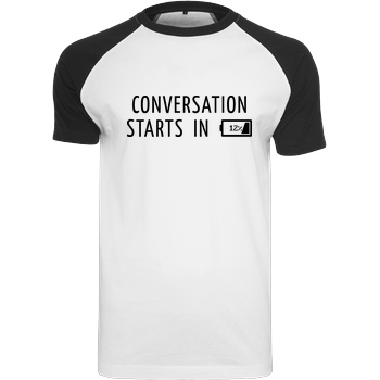 None Conversation Starts in 12% T-Shirt Raglan Tee white