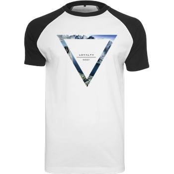 Markey Markey - Triangle T-Shirt Raglan Tee white