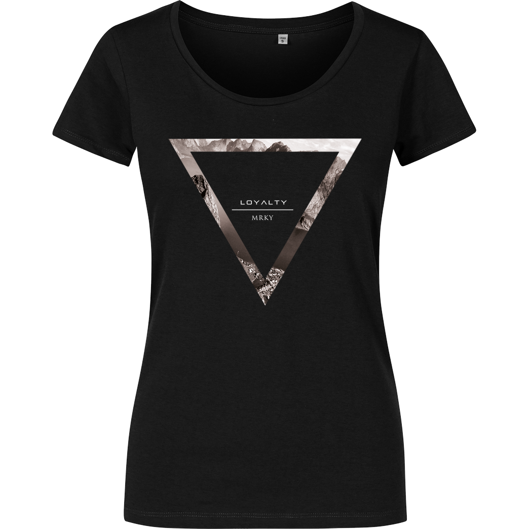 Markey Markey - Triangle T-Shirt Girlshirt schwarz