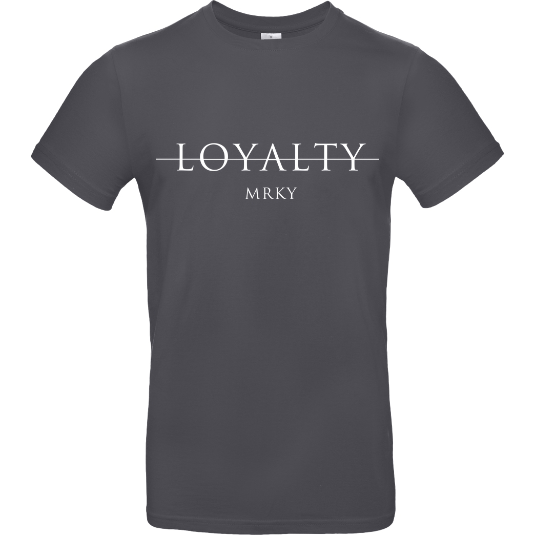 Markey Markey - Loyalty T-Shirt B&C EXACT 190 - Dark Grey