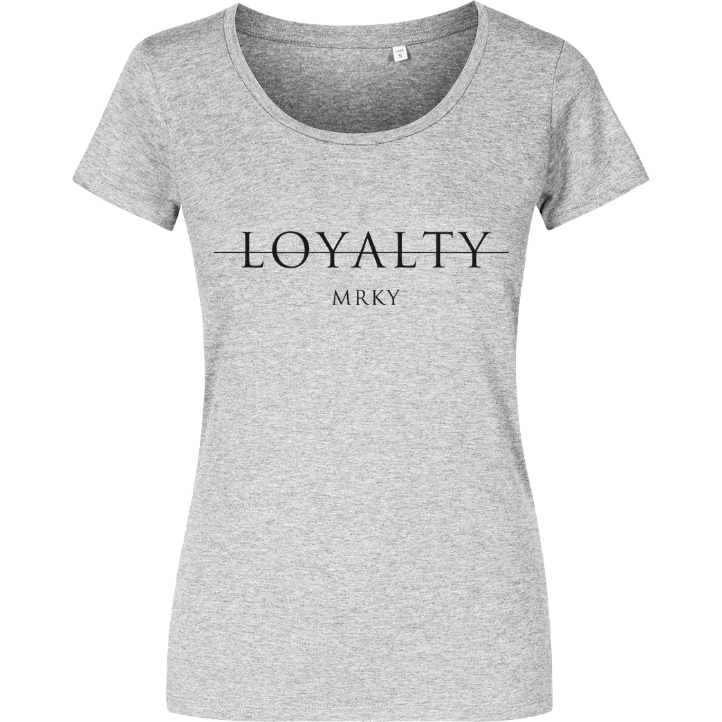Markey Markey - Loyalty T-Shirt Girlshirt heather grey
