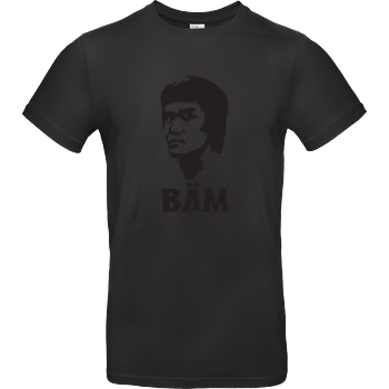 None BÄM T-Shirt B&C EXACT 190 - Black