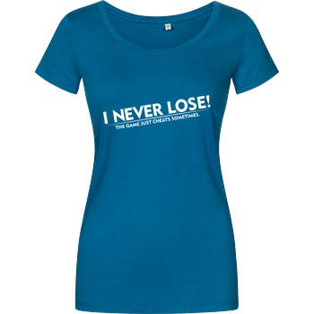 IamHaRa I Never Lose T-Shirt Girlshirt petrol