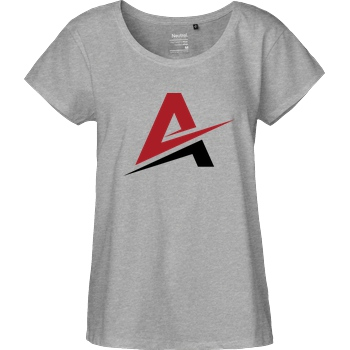 AhrensburgAlex AhrensburgAlex - Logo T-Shirt Fairtrade Loose Fit Girlie - heather grey