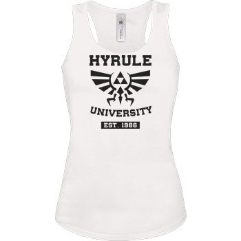 scallysche University of Hyrule T-Shirt Tanktop white