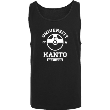 scallysche Kanto University T-Shirt Tanktop men black