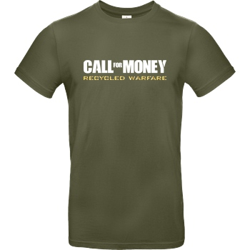 IamHaRa Call for Money T-Shirt B&C EXACT 190 - Khaki