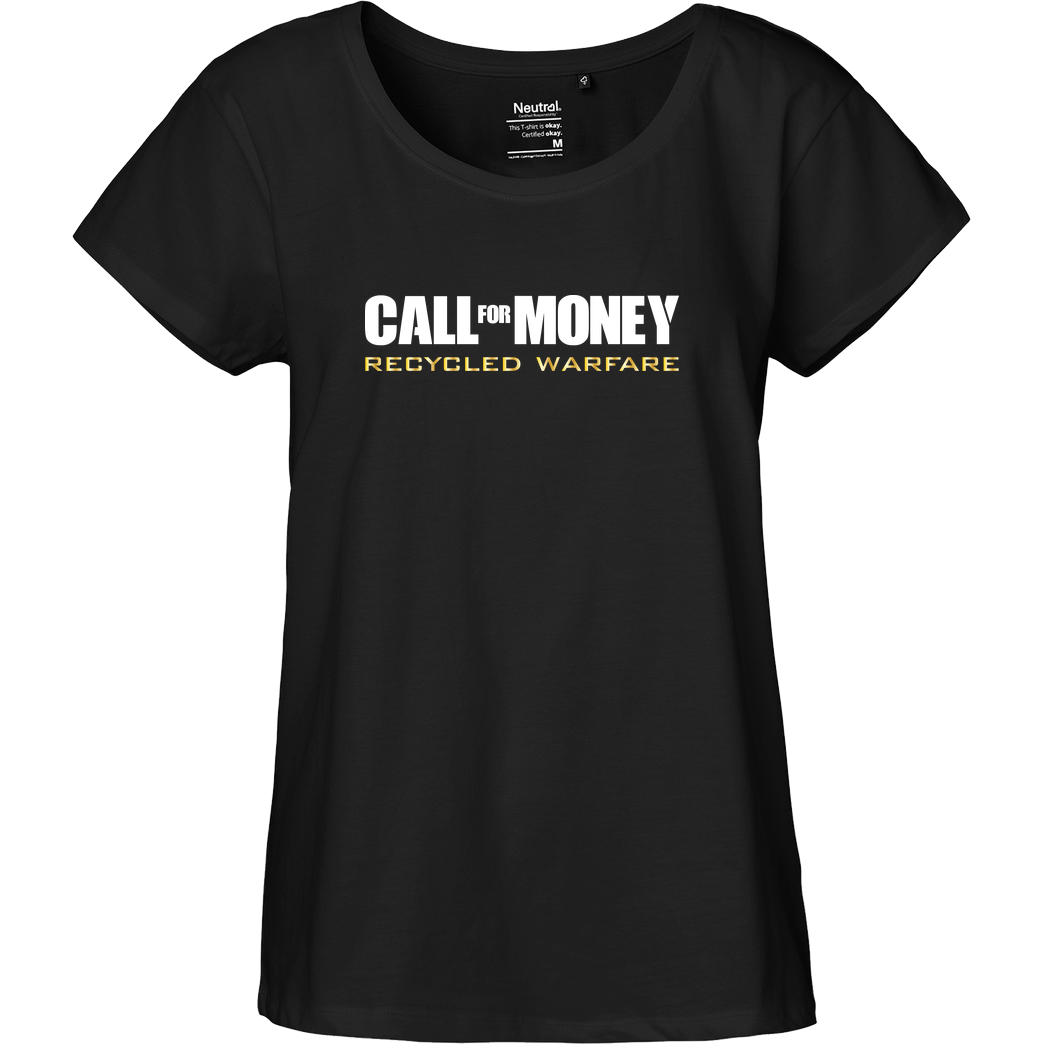 Dominik_RC Call for Money T-Shirt Fairtrade Loose Fit Girlie