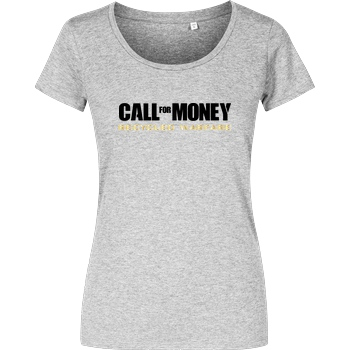 IamHaRa Call for Money T-Shirt Damenshirt heather grey