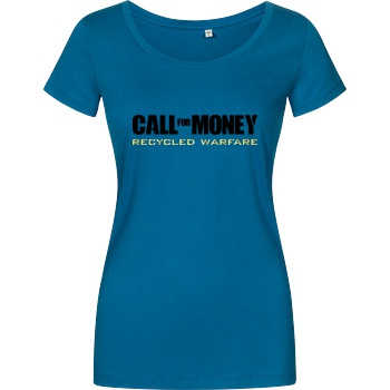 IamHaRa Call for Money T-Shirt Girlshirt petrol