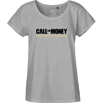 IamHaRa Call for Money T-Shirt Fairtrade Loose Fit Girlie - heather grey