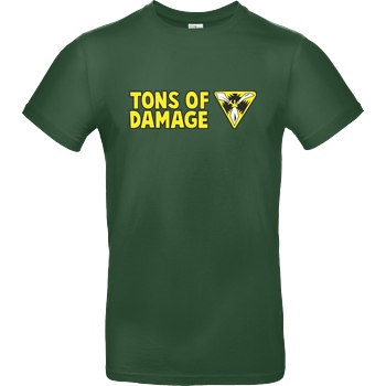 IamHaRa Tons of Damage T-Shirt B&C EXACT 190 -  Bottle Green