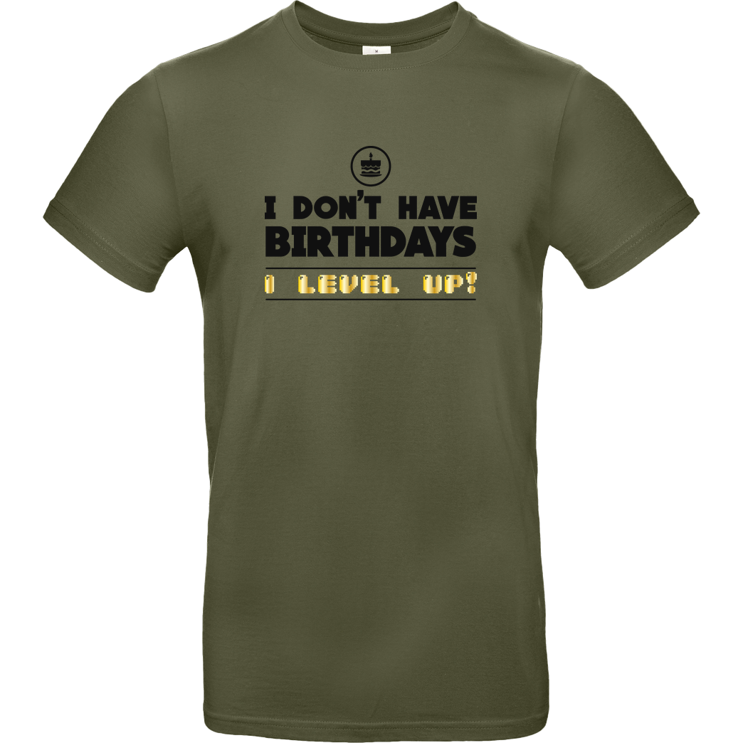 bjin94 I Level Up T-Shirt B&C EXACT 190 - Khaki