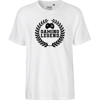 bjin94 Gaming Legend T-Shirt Fairtrade T-Shirt - white