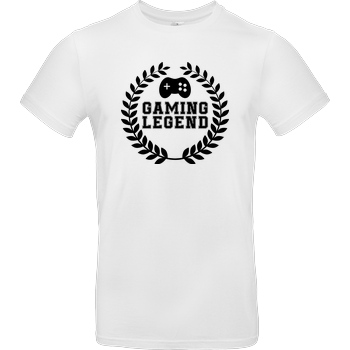 bjin94 Gaming Legend T-Shirt B&C EXACT 190 - Weiß