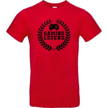bjin94 Gaming Legend T-Shirt B&C EXACT 190 - Rot