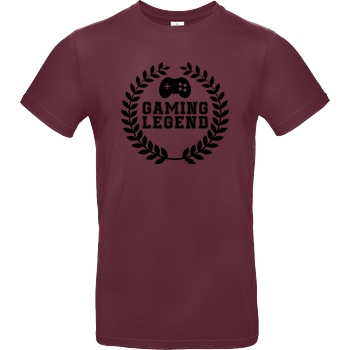 bjin94 Gaming Legend T-Shirt B&C EXACT 190 - Burgundy