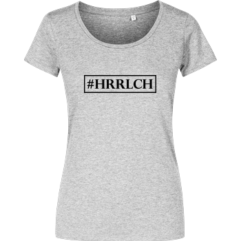 MaxGamingTV - #HRRLCH Damenshirt heather grey
