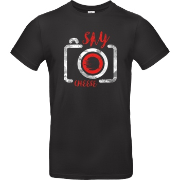 FilmenLernen.de Cheese T-Shirt B&C EXACT 190 - Black