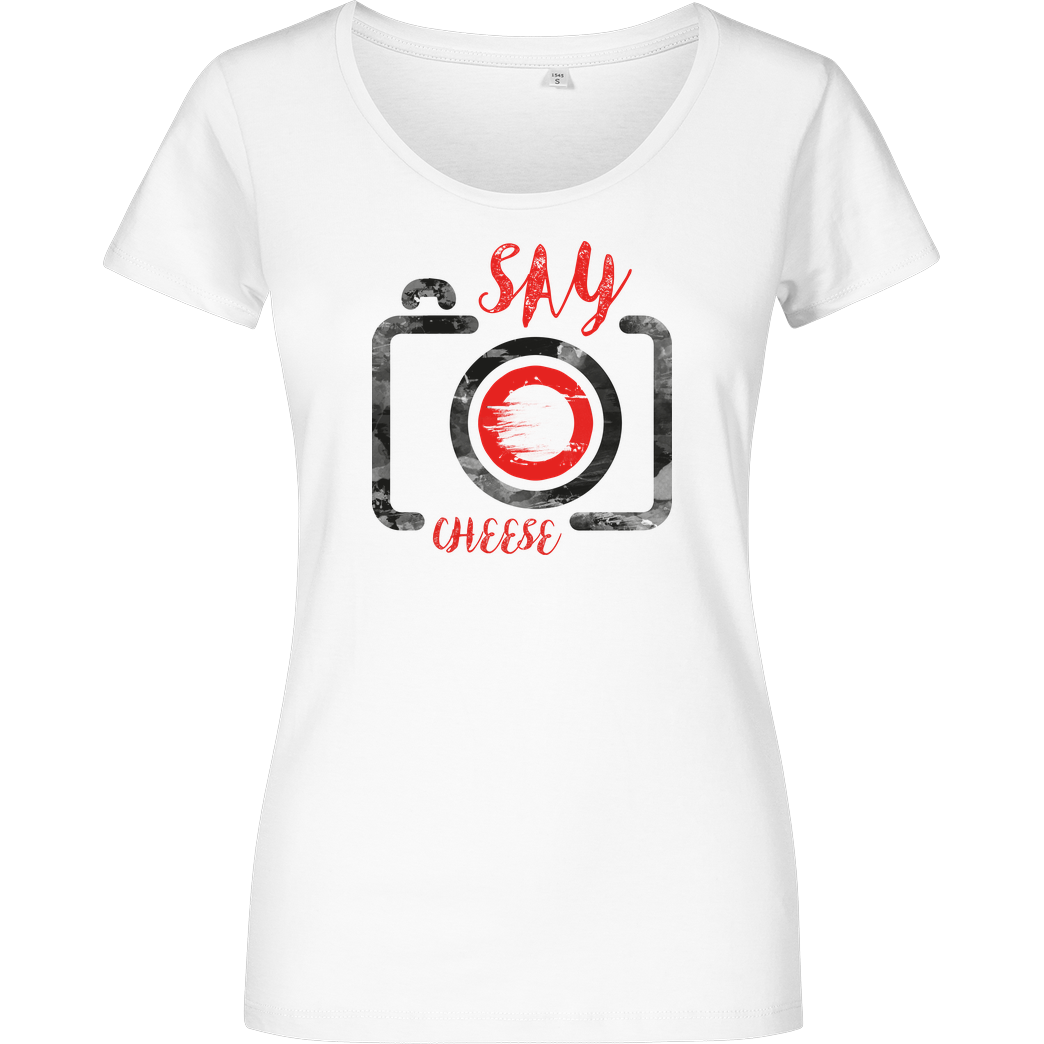 FilmenLernen.de Cheese T-Shirt Girlshirt weiss
