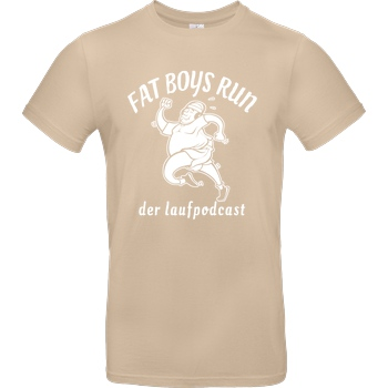 Fat Boys Run Fat Boys Run - Logo T-Shirt B&C EXACT 190 - Sand