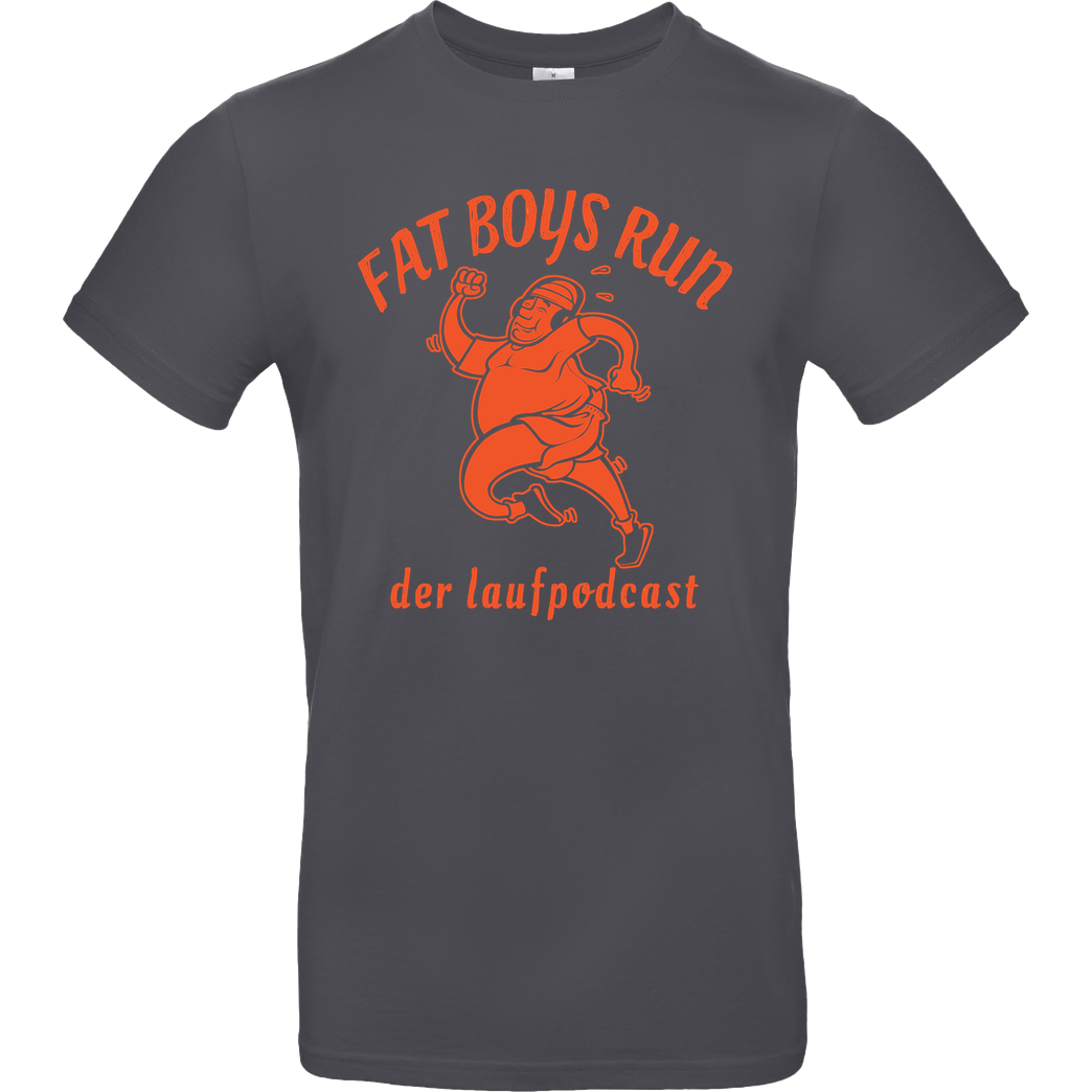 Fat Boys Run Fat Boys Run - Logo T-Shirt B&C EXACT 190 - Dark Grey
