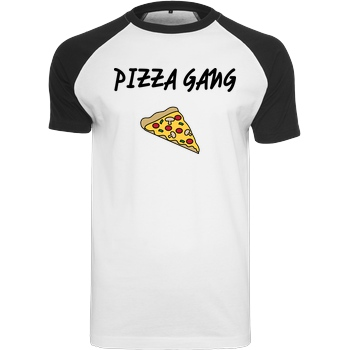 Fittihollywood FittiHollywood- Pizza Gang T-Shirt Raglan Tee white