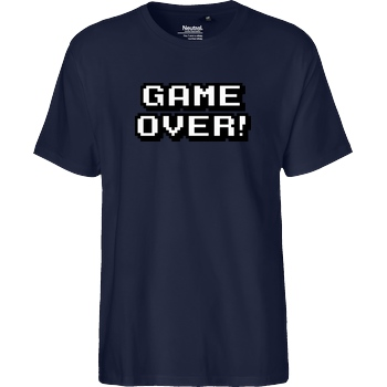 bjin94 Game Over T-Shirt Fairtrade T-Shirt - navy