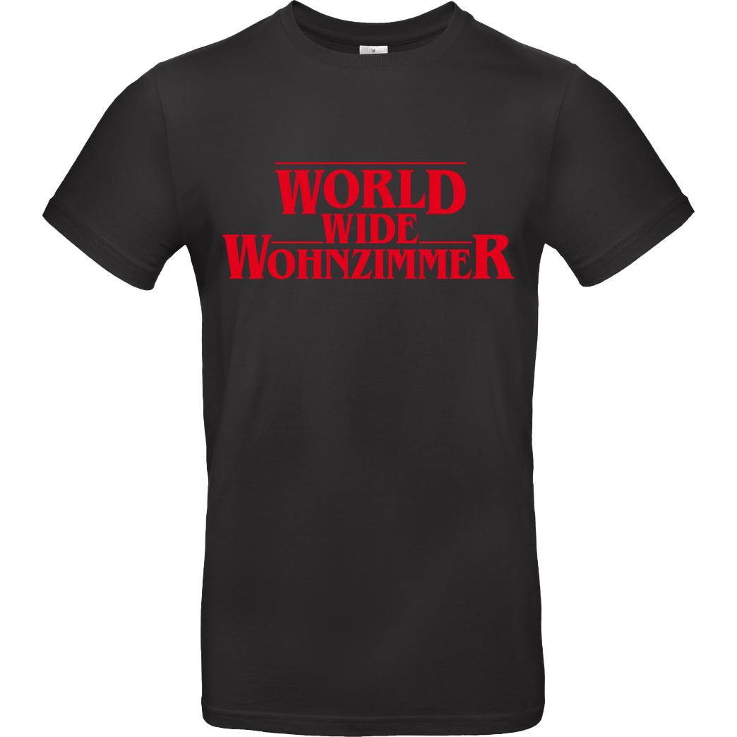 World Wide Wohnzimmer WWW - Stranger Things T-Shirt B&C EXACT 190 - Schwarz