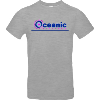 None Oceanic Airlines T-Shirt B&C EXACT 190 - heather grey