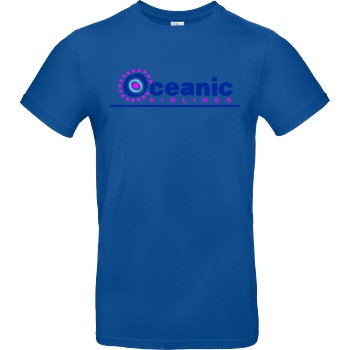 None Oceanic Airlines T-Shirt B&C EXACT 190 - Royal Blue