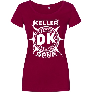 Der Keller Der Keller - Gang Cracked Logo T-Shirt Girlshirt berry