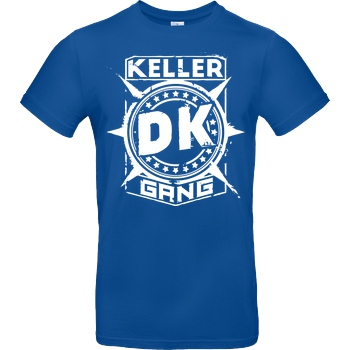 Der Keller Der Keller - Gang Cracked Logo T-Shirt B&C EXACT 190 - Royal
