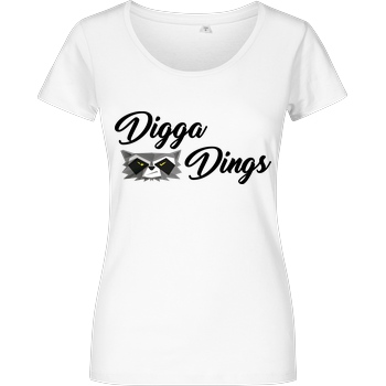 Shlorox Shlorox - Digga Dings T-Shirt Damenshirt weiss