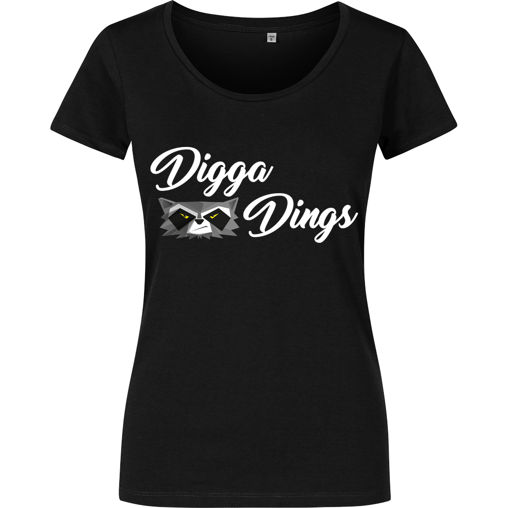 Shlorox Shlorox - Digga Dings T-Shirt Damenshirt schwarz